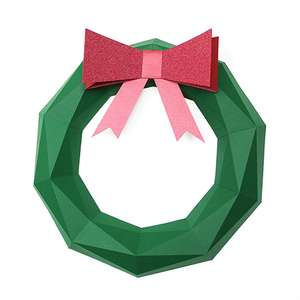 low poly christmas wreath