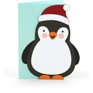 a2 christmas card penguin