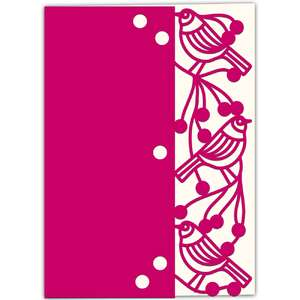 hedgerow birds lace edged card