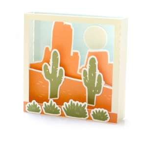 desert shadowbox card