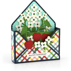 box card envelope cherries