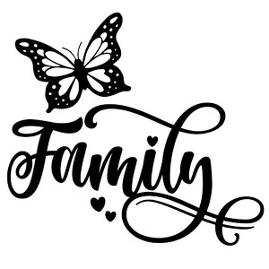 family butterfly word