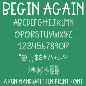 begin again font