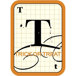 flashcard: trick or treat