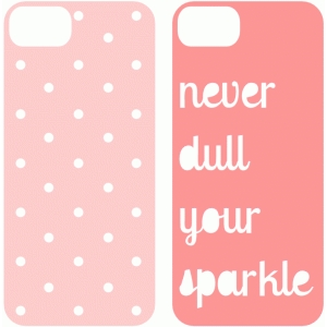 never dull and dots iphone 5 case
