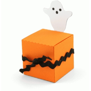 3d halloween ghost treat box