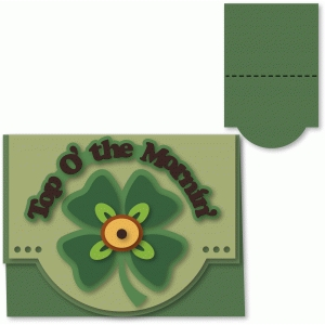 shamrock a2 card top fold shaped edge