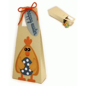 chick & egg tall handled tote box