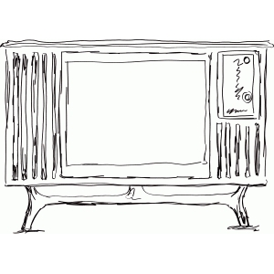 retro tv sketch