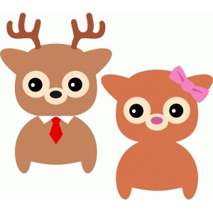 cute couple reindeer