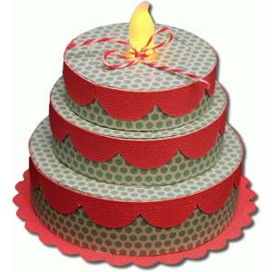3d three tier birthday cake tealight