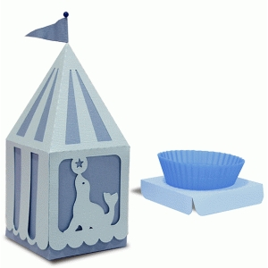 peaked roof cup cake seal box