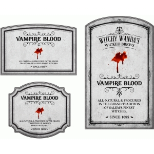 potion label vampire blood
