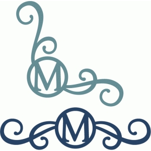 monogram seal flourishes m