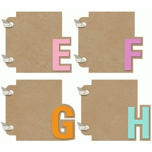 3x4 mini album efgh set