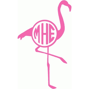 flamingo monogram