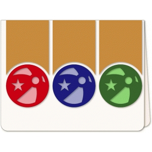 beach ball trio a6 card