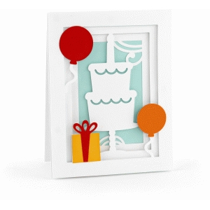 a2 birthday cake pop dot card