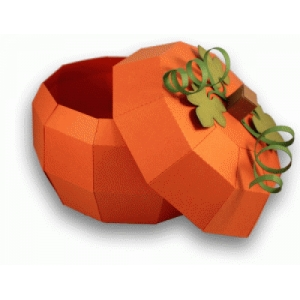 3d pumpkin gift box