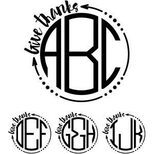 monogram basic -  arrow give thanks