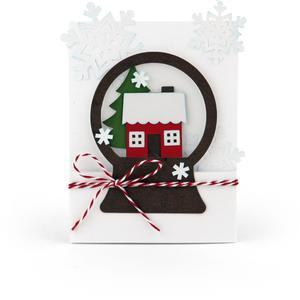 snow globe card house