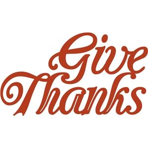 'give thanks' word phrase