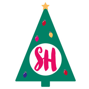 christmas tree monogram frame