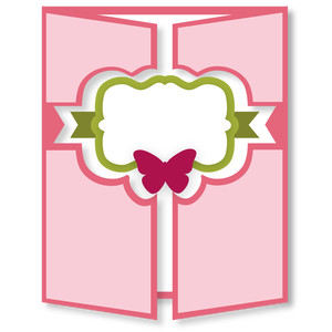 gatefold card - bracket butterfly
