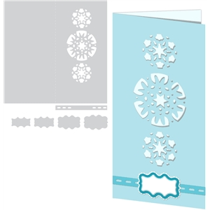 card kit snowflake trio