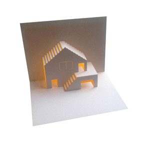 house & garage pop up card
