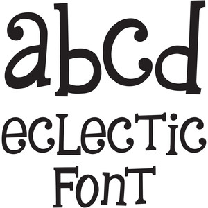 eclectic font