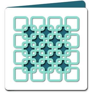 square pattern cutout card