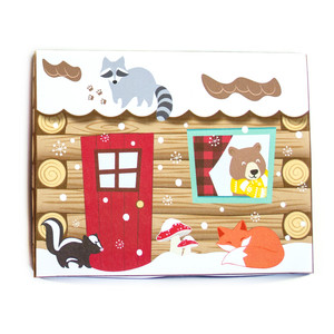 log cabin cookie box