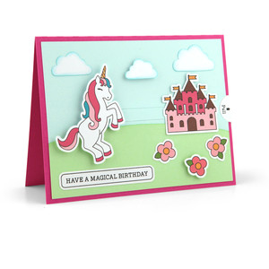 slider card unicorn