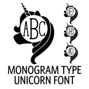 monogram type - unicorn