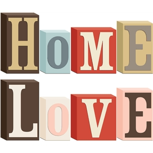 3d home & love block words (1 of 2)
