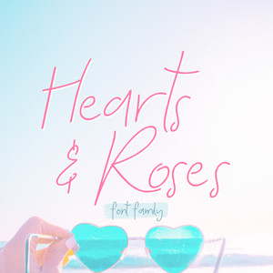 hearts and roses font family