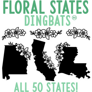 sg floral united states dingbats