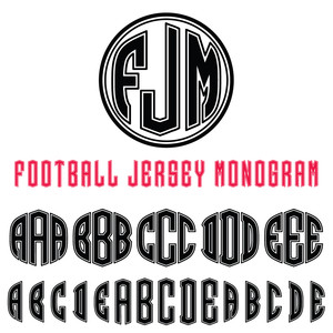 football jersey monogram font
