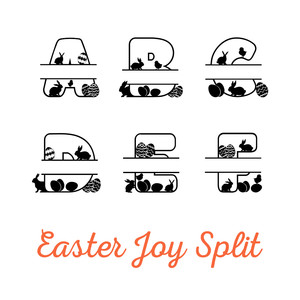 easter joy split monogram