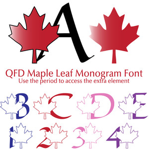 qfd maple leaf monogram font