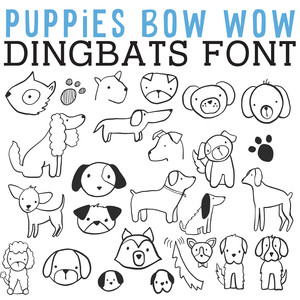 cg puppies bow wow dingbats