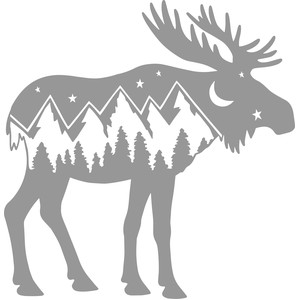 moose mountain scene
