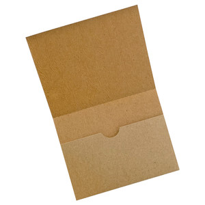 a2 card with inside notch pocket