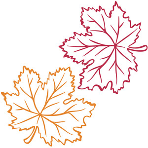 vinyl maple leaves