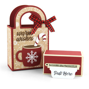 money roll gift bag set cocoa