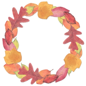 fall leaf wreath pnc