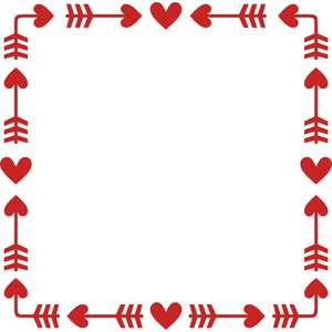 hearts and arrows square frame
