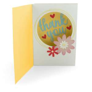 shadow box card front flap thank you