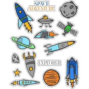 ml outer spacey stickers